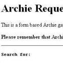 Archie Request Form