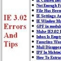 IE3 Errors and Tips
