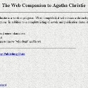 The Web Companion to Agatha Christie