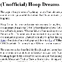 Unofficial Hoop Dreams