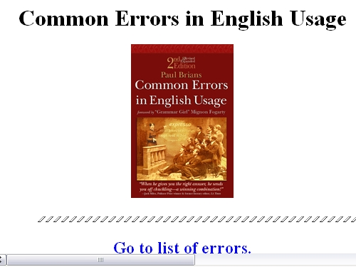 http://www.wsu.edu/~brians/errors/index.html