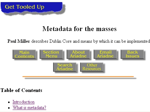 http://www.ariadne.ac.uk/issue5/metadata-masses