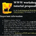 WWW workshop and tutorial proposal
