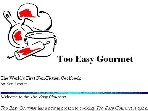 Too Easy Gourmet