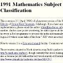 Mathematical Review 1991 Subject Classification
