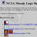 NCSA Mosaic Logo Sightings