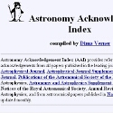Astronomy Acknowledgement Index