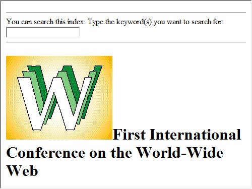 First International Conference on the World-Wide Web