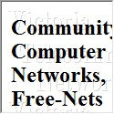 Community Computer Networks