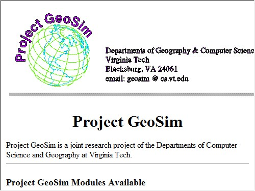 http://geosim.cs.vt.edu/index.html