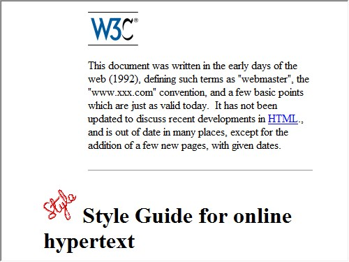 http://www.w3.org/Provider/Style/Overview.html